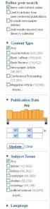 LibrarySearch+ Refine Search