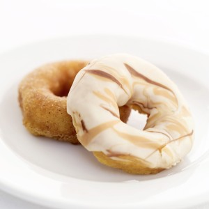Two Doughnuts on a Plate