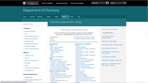 journal access web page screenshot